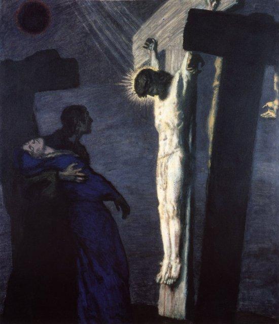Crucifixions dérangeantes FranzVonStuck-Crucifixion-II-1892