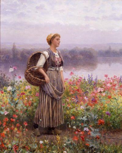 Daniel Ridgway Knight  The-flower-girl