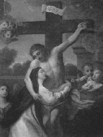 Comment faire une bonne intention - par Michael Mueller, C.SS.R., 1890 (anglais/français) Placido-costanzi-saint-catherine-of-siena-embracing-christ-on-the-cross
