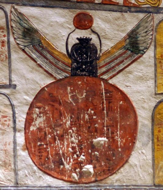Papiro: libro de los  muertos de Henuben KV9_Khepri-from-disc_Egypt