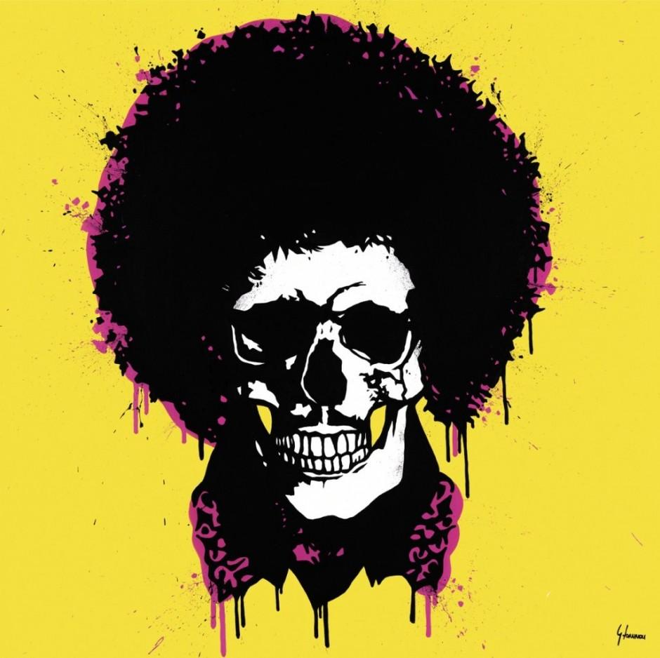 Un peu macabre... George-Ioannou-Jimi-Hendrix-Skull