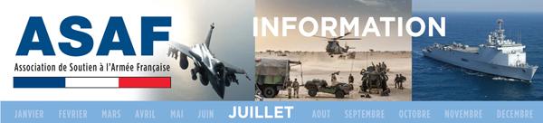 Lettre information ASAF : Des réalités qui balaient les idéologies. La France doit demeurer souveraine et influente. Bandeau_Juillet