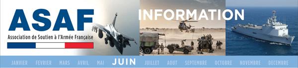 ASAF letre information juin 2016: L'INDISPENSABLE REMONTÉE EN PUISSANCE DE NOTRE ARMÉE. Bandeau_juin_lettre_information