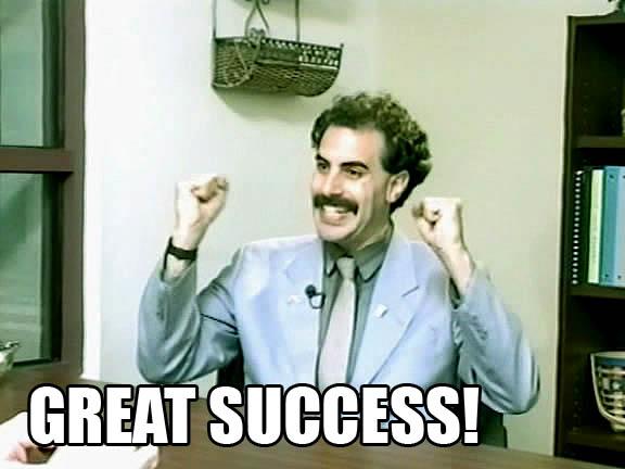 Tänään töissä Great_success