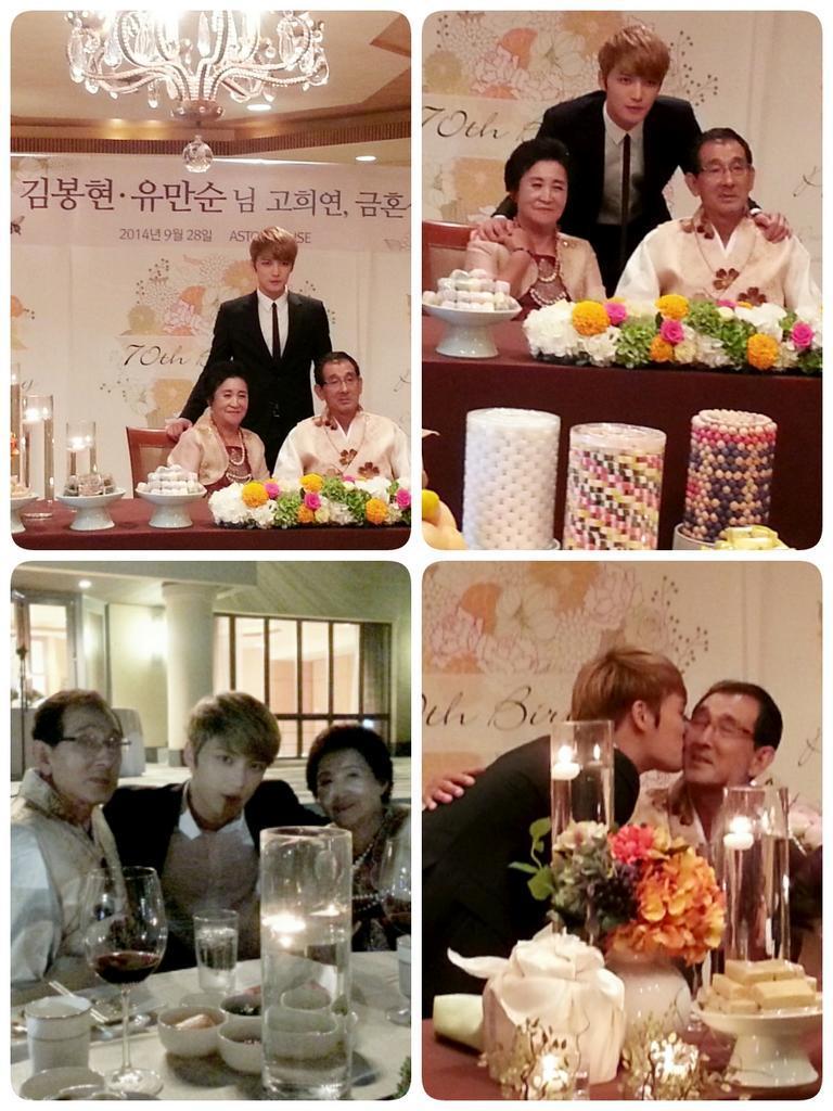 جيجونغ احتفل بعيد ميلاد والديه الـ ٧٠ بحضور صديقيه يوتشون و جونسو نشرت بواسطة:Masa Jaejoong-parents-birthday-1