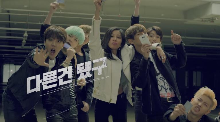 [فيديو] جيسي و BTS يخوضون معركة راب في إعلان خاص بشركة اتصالات Jessi-BTS