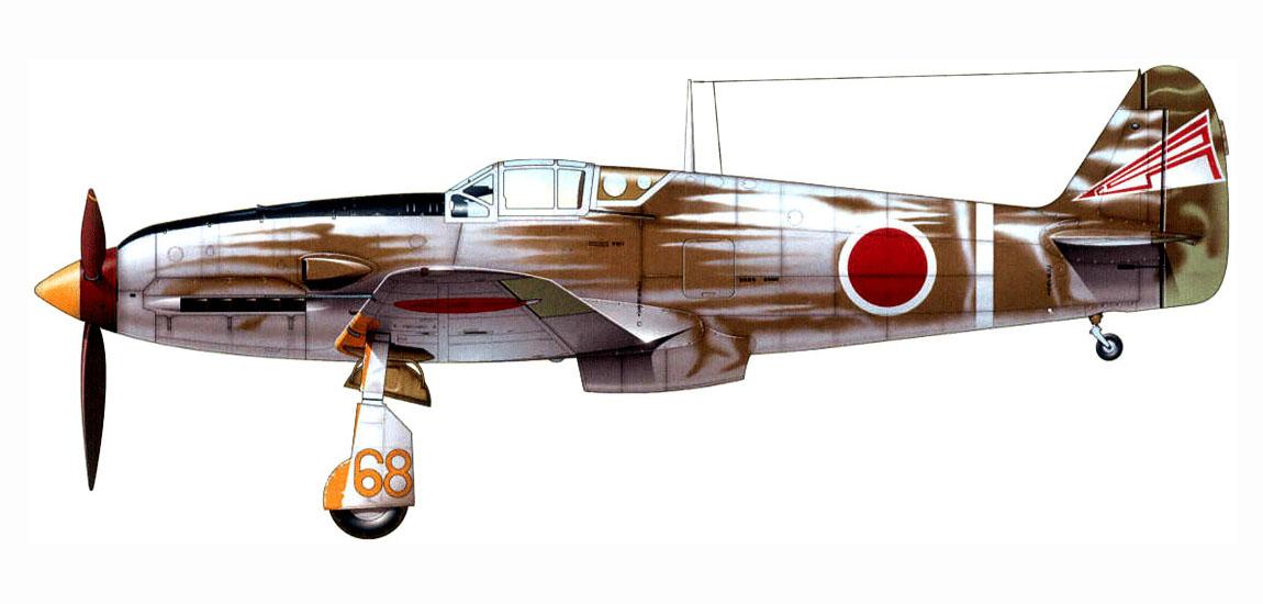 Mansyu Ki-98 Fighter (1/72, MENG)  - Page 3 Artwork-Tony-Ki-61-I-Kai-105-Sentai-Orange-68-Japan-May-1945-0A