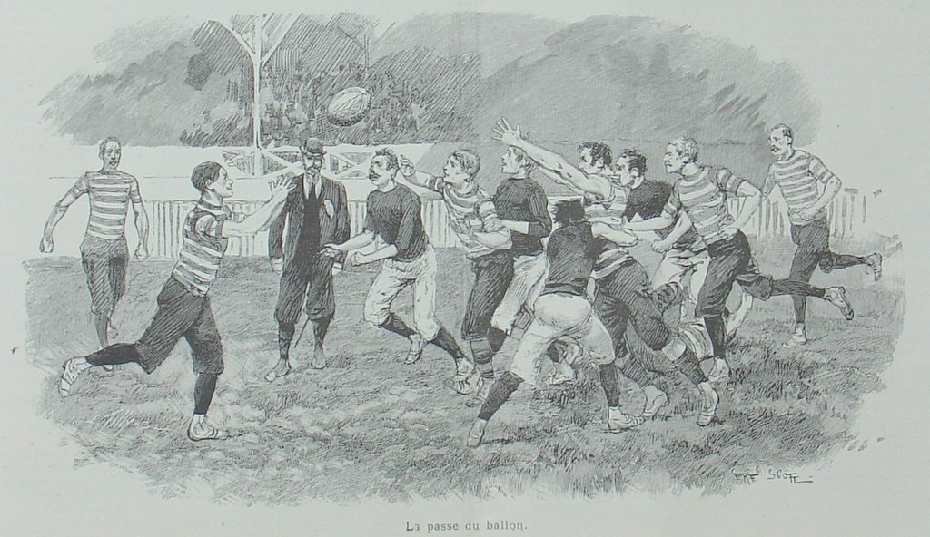 Archives : histoire du Stade Français Paris 1892-StadeFrancais-RosslynPark-LIllustration-avril1892-gravure