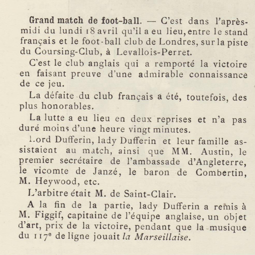 Archives : histoire du Stade Français Paris 1892-avril-StadeFranais-RosslynPark-LeMondeIllustre