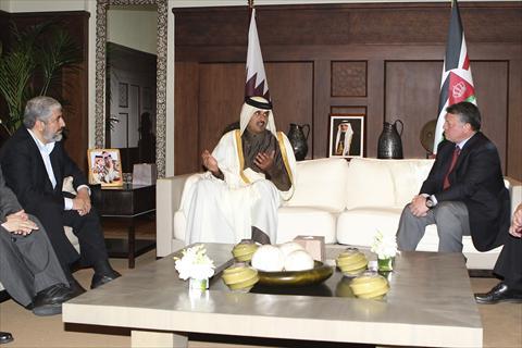 بلصور  لقاء الملك مع قيادات حماس في الاردن 3-JALFSK37-29012012090131