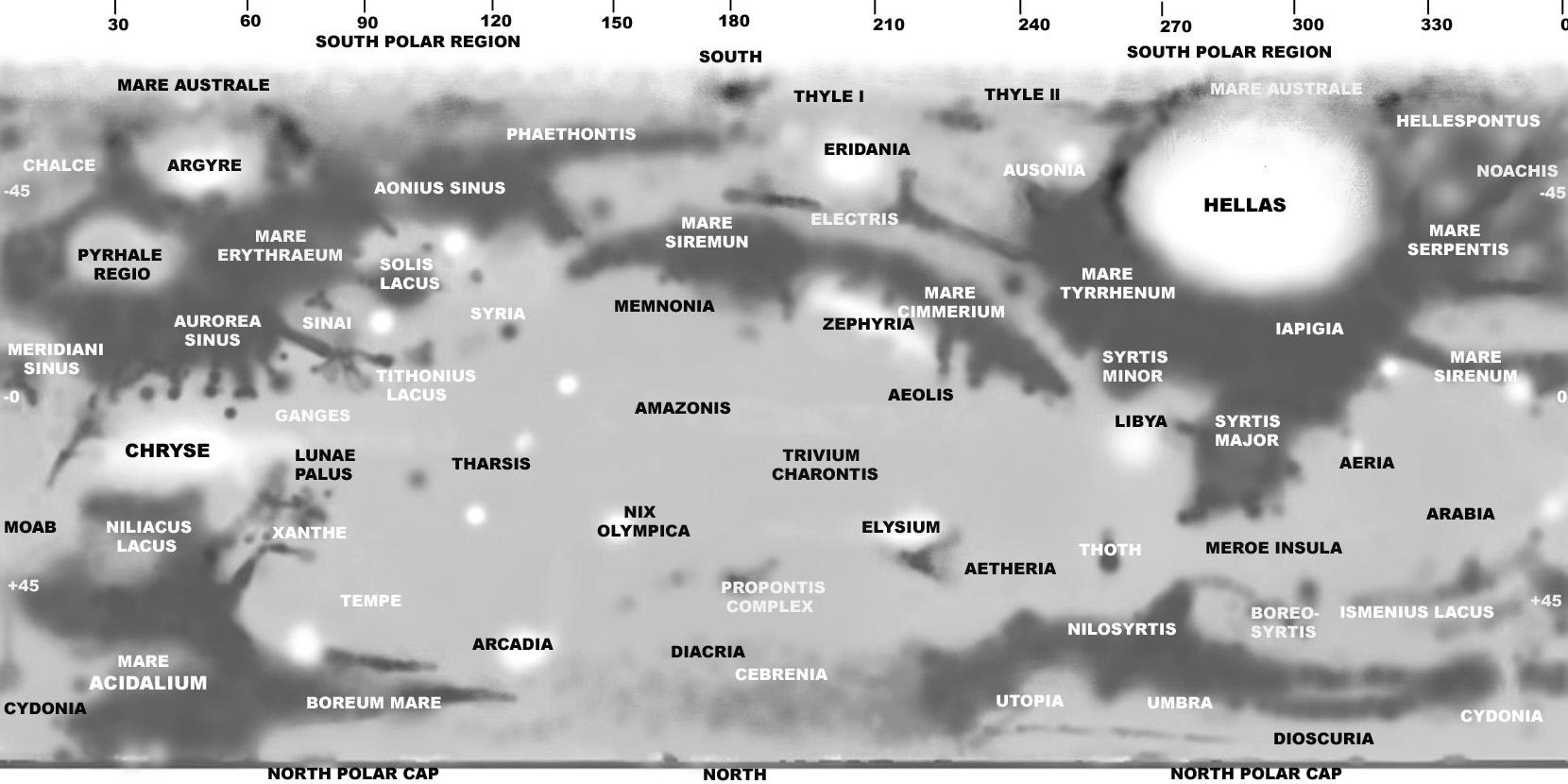 Marte e calotas gelo polares no Mak 90? Marsmap