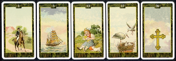 versions - Les différentes versions des  cartes Lenormand T-lenor2