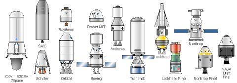 Astronautix : CEV les différents projets Zcevcomm