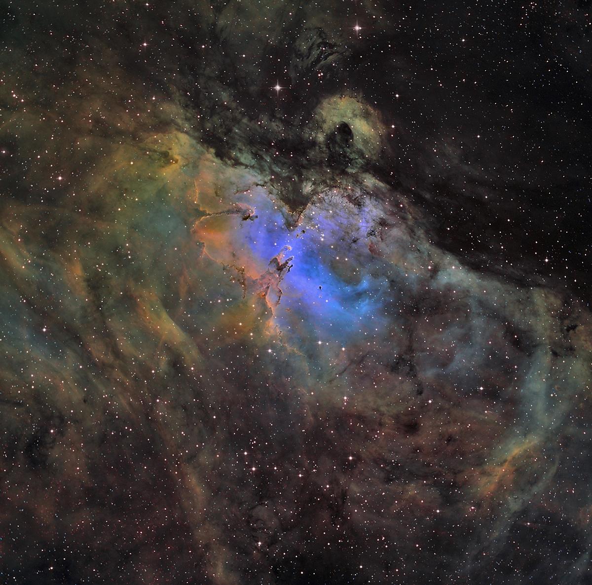 Messier 16 un aigle dans le ciel en sho  M16_1200