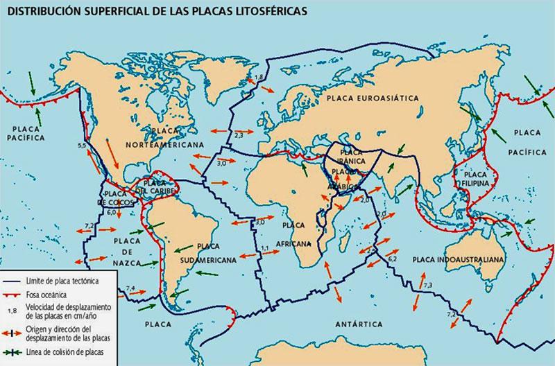 • Un DEVASTADOR TERREMOTO en California para 2030 es posible... Distribucion-placas-tectoni