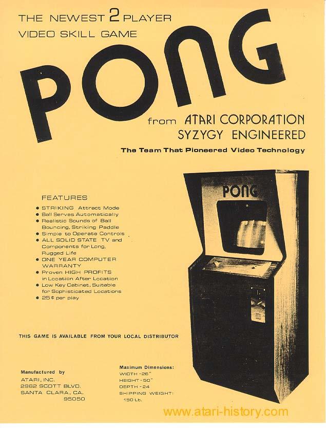 le jeu du ping pong Pong