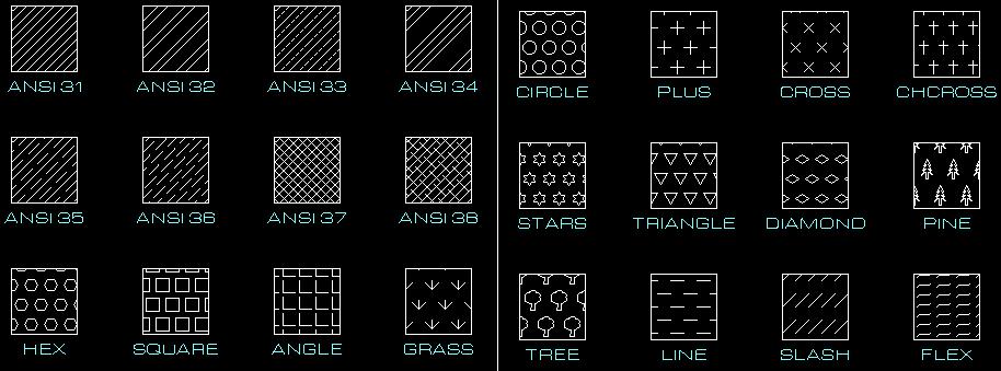 Hachures avec des points Patterns