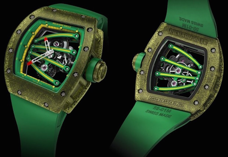 The Rio 2016 Summer Olympics and watches Richard-Mille-RM059-01-Composite-Tourbillon-Yohan-Blake-Watch-620x428