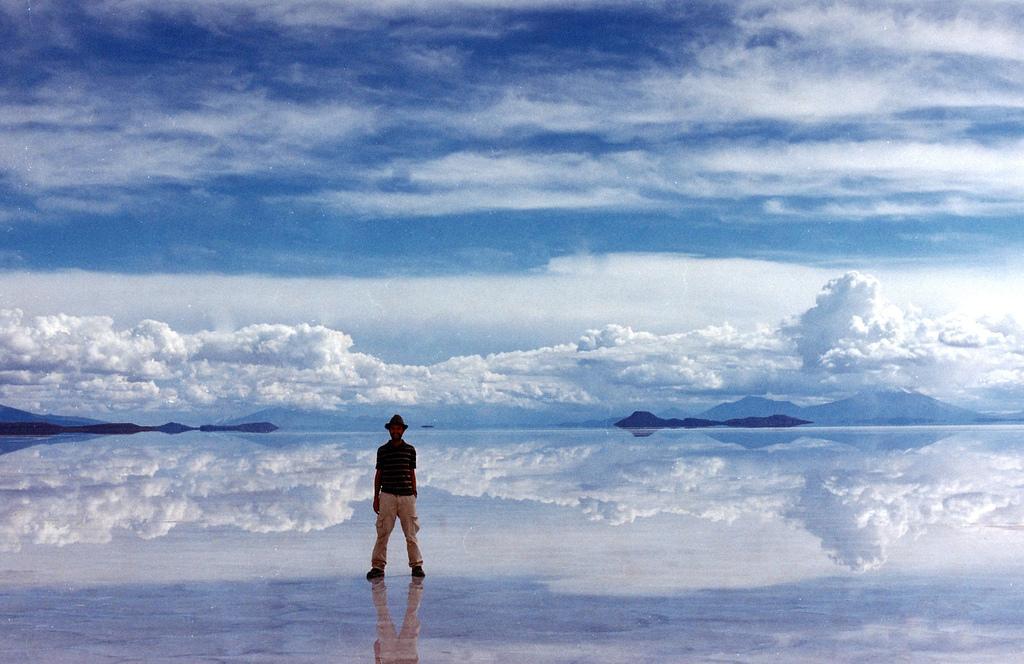 Mesta na Zemlji sa vanzemaljskim izgledom Uyuni-mirror