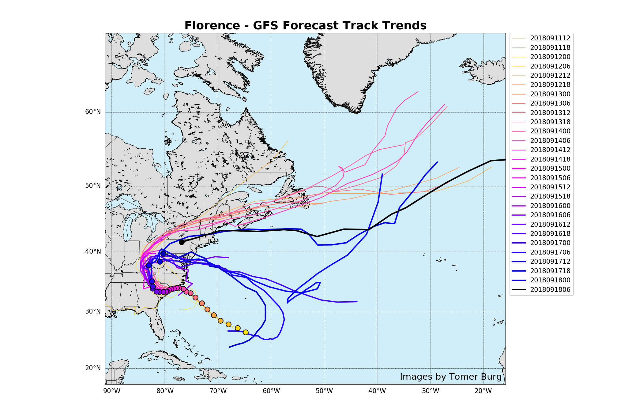 FLORENCE: East Coast Threat or Does She Sleep With the Fishes? - Page 4 Florence_track