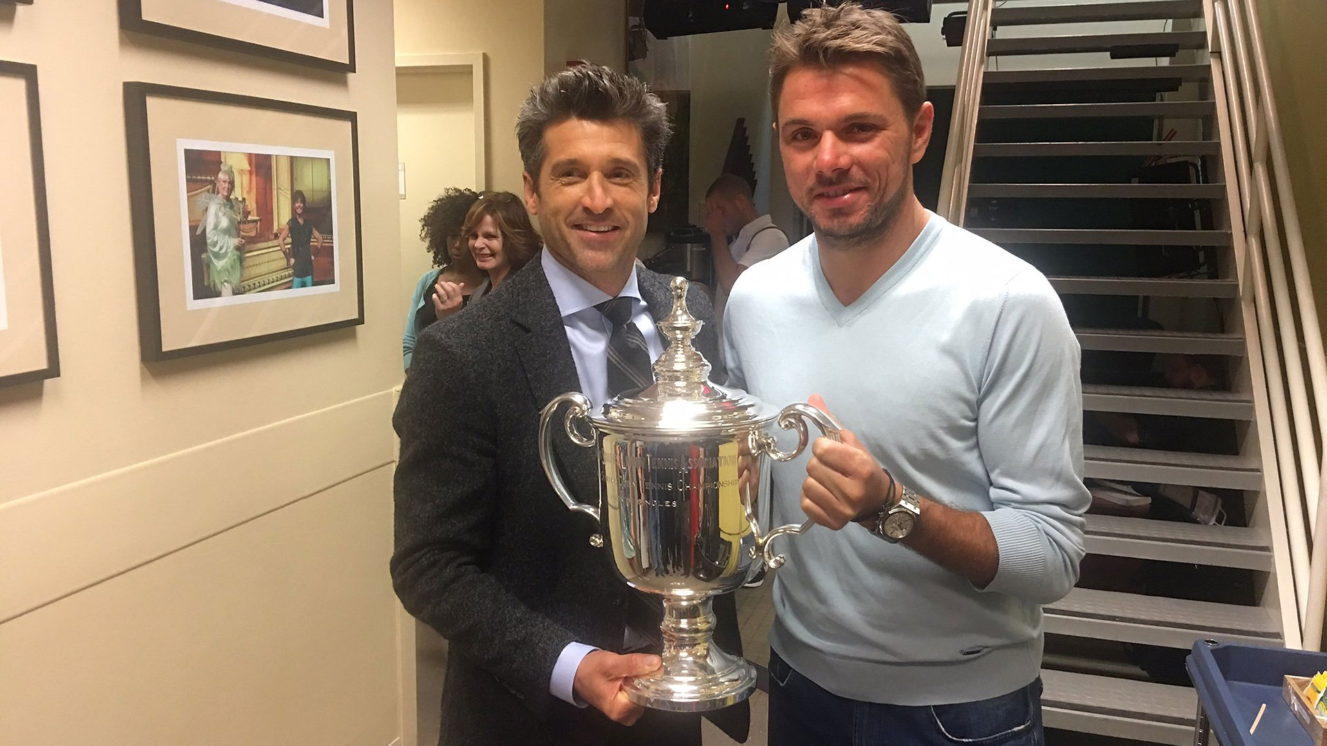 ¿Cuánto mide Patrick Dempsey? - Altura - Real height Wawrinka-dempsey-us-open-2016-monday