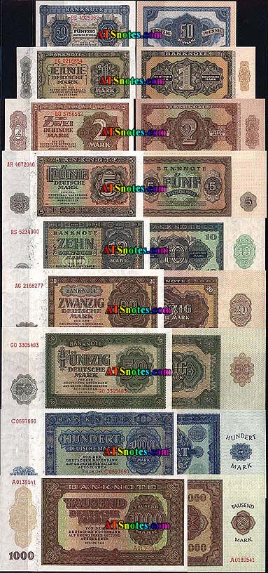 SERIE COMPLETA BILLETES BURGOS AÑO 1936 Germany-democratic-8