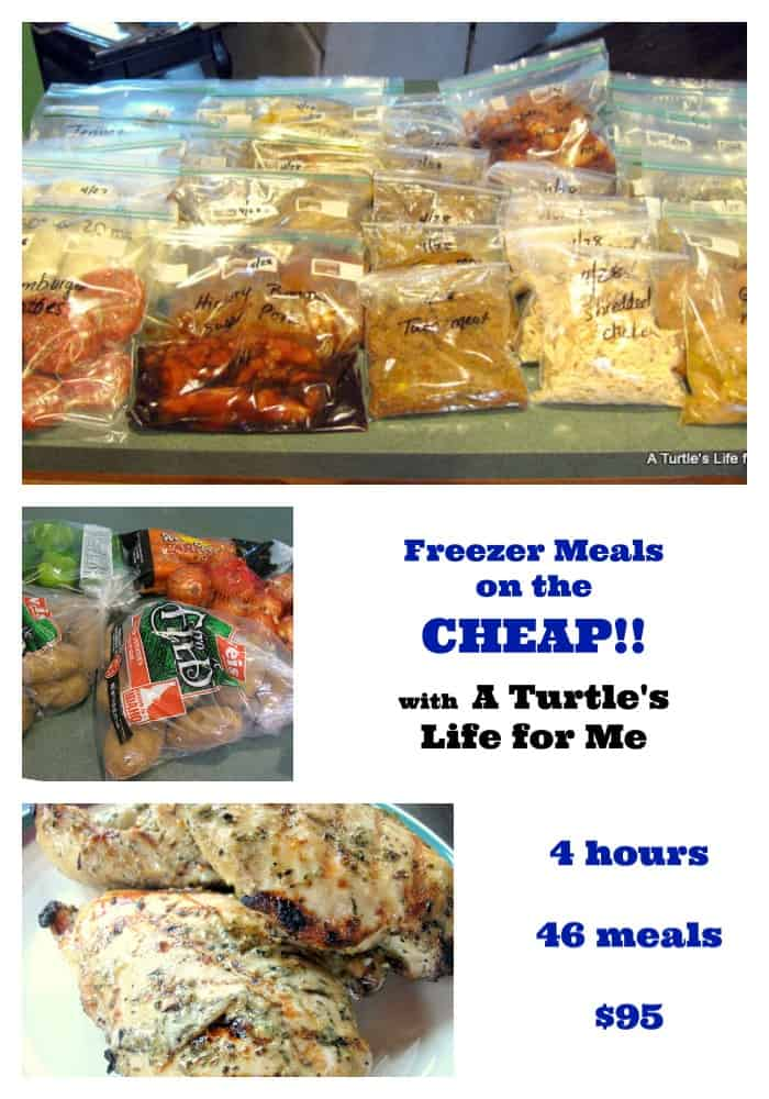 A Month Of Dinners For Less Than $100 Freezer-meals-OAMC-collage