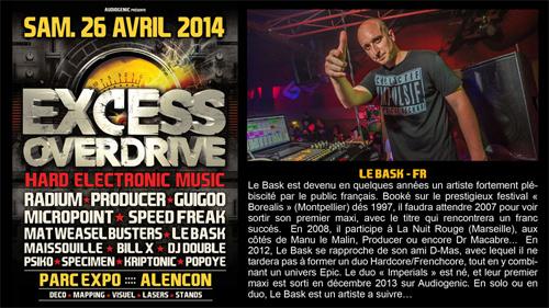 26/04/2014 - Alencon - EXCESS OVERDRIVE w/ Radium an Le-bask