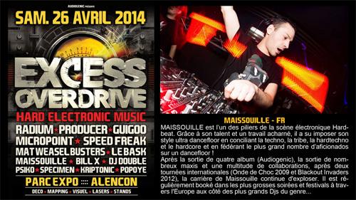 26/04/2014 - Alencon - EXCESS OVERDRIVE w/ Radium an Maissouille