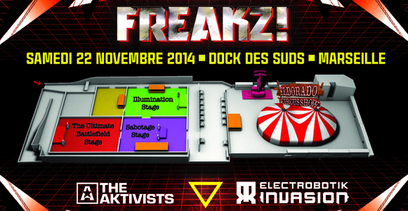 22/11/14-FREAKZ-4 STAGES/TECHNO>DUBSTEP>TRANCE>HARDCORE Planfreakz300