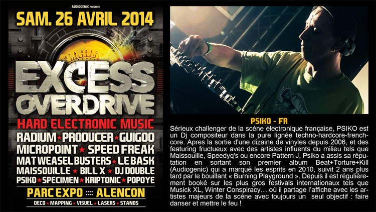 26/04/2014 - Alencon - EXCESS OVERDRIVE w/ Radium an Psiko750
