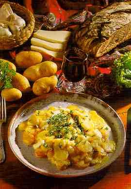 "Plat traditionel Auvergnat ""La truffade"" Truffadf"