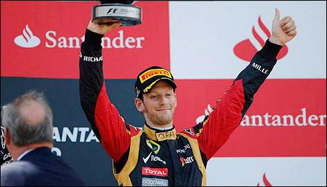Les marques de montres et l'automobile F1-romain-grosjean-podium-inline