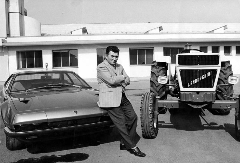 "Lịch sử hình ảnh ""con bò tót"" Lamborghini Ferruccio_lamborghini_and_jarama"