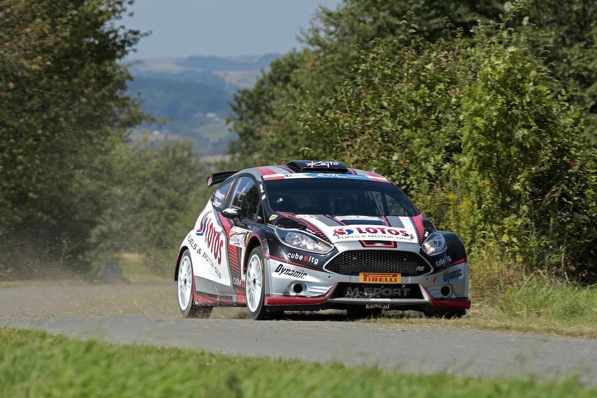ERC - Championnat d'Europe des rallyes _erc-kajetanowicz-pologne-arrivee-aout-2016