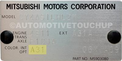 Código de pintura Mitsubishi-paint-code-1