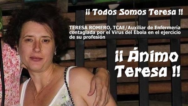 Ebola. Aux. de Enfermeria  ha dado positivo en Madrid.  Teresa_romero_solidaridad