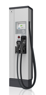 Borne de recharge rapide 22 kw (universelle AC/DC)  (compatible Zoé) Abb_terra_duo