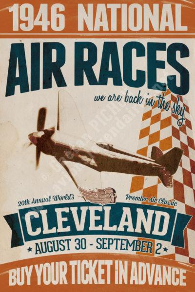Et HOP ! ... Dans la musette ! Vintage-Retro-poster-Cleveland-Air-Races-1946-copyright-Pichon-400x600