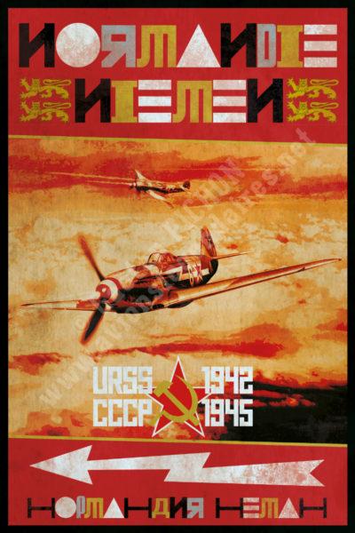 Et HOP ! ... Dans la musette ! Poster-affiche-normandie-niemen-1942-1945-copyright-Pichon-400x600