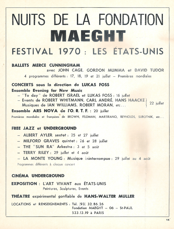 Albert Ayler: Nuits De La Fondation Maeght (1970) Fondation_maeght_ad