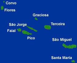 Alugar carro nos Açores, Ponta Delgado urgente pff Map_acores
