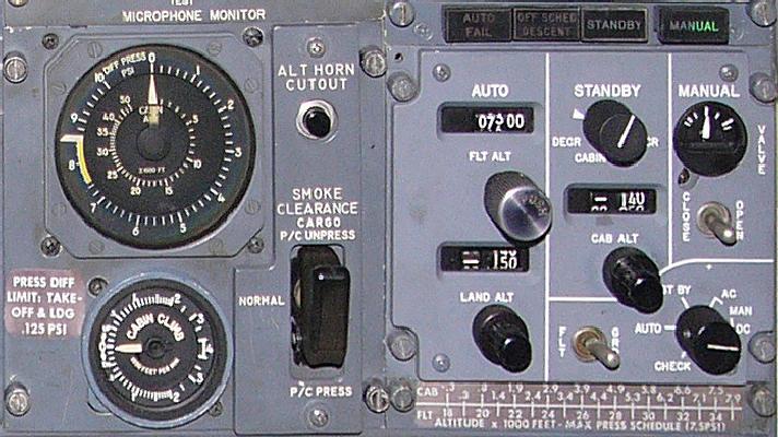 pressurização no 727 e 737  Cpcspanel