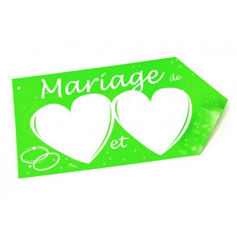 Mariage le 12 juillet 2014 : Il était une fois ... Une petite Manon en 2016 Fl_che_de_direction_mariage_vert_anis