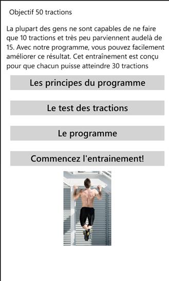 [APPLICATION WINDOWSPHONE - 50 PULLUPS] Développez vos muscles avec les tractions [Gratuit] Trac1