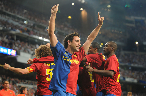 """Messi backstabs Xavi """"Sometimes you can not play attractive football"""" - Page 2 Xavi-Celebration"""