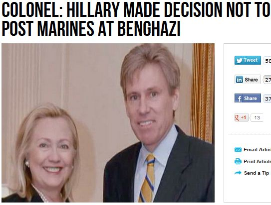 Did Hillary Clinton kill Ambassador Christopher Stevens? Clinton-to-blame-for-lack-in-security-in-embassies-15.9.2012