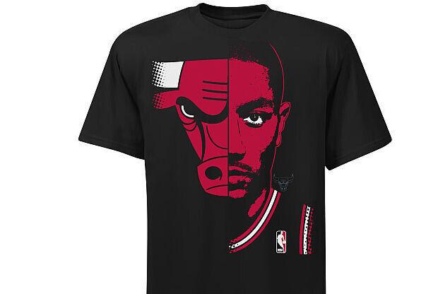 Nueva colección de camisetas lanzada por la NBA Derrick-Rose