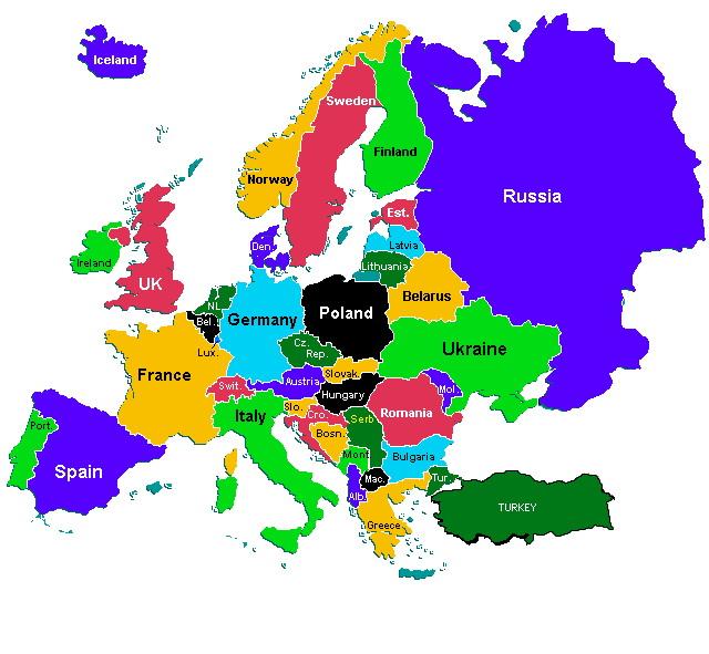Retorika - inspiracija za život Politi%C4%8Dka-mapa-Evrope-dr%C5%BEave-%C4%8Dlanice-EU-kontinenta