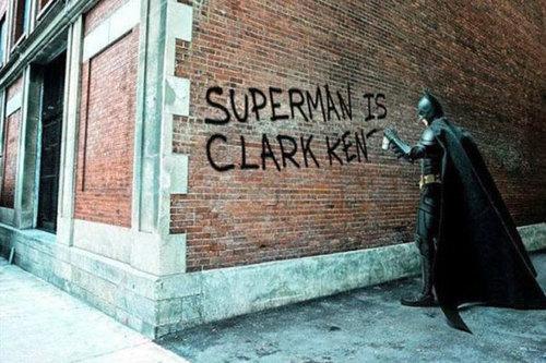 Les murs ont la parole. Batmansuperman